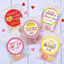 personalized valentine stickers bags