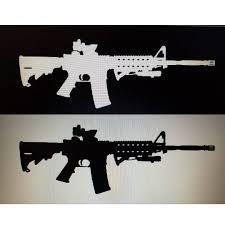 Ar 15 Vinyl Decal Carved Gun Creations