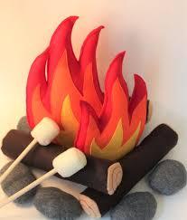 Campfire Play Set Felt Campfire Pretend Play Kids Room Etsy