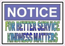 3 2 For Better Service Kindness Matters Sticker Vinyl Cup Decal Stickers Stickertalk