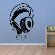Poomoo Wall Decals Music Dj Headphones Wall Stickers Boys Room Wall Decor Vinyl Decals Fashion Design Home Decoration Wall Decor Home Decordecoration Design Aliexpress
