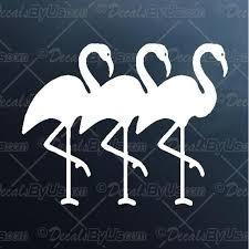 Three Flamingos Decal Three Flamingos Car Sticker Fast Shipping