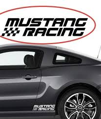 Auto Parts And Vehicles A Pair Vinyl Auto Side Skirt Car Sticker Racing Stripe Decal For Ford Mustang Car Truck Parts Moonnepal Com