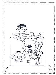 Bert En Ernie Bij Zee Sesamstraat Kleurplaat