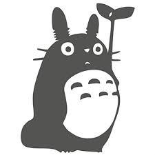 Cmi Totoro Sticker Decal Studio Ghibli Wall Laptop Die Cut White Sticker Decal Dark Gray Walmart Com Walmart Com