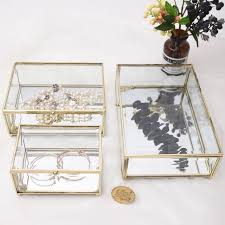 mirrored terrarium jewellery box