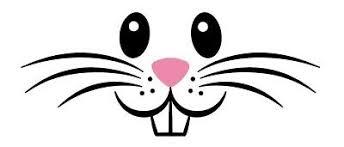 Easter Bunny Rabbit Face Cut Vinyl Decal Sticker Design 1 Ebay