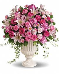 pink garden arrangement in el centro ca
