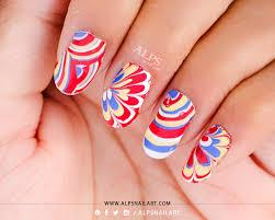no mess water marble nail art applique