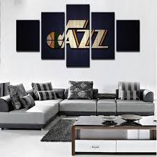 Shop For Utah Jazz Basketball Team Canvas Wall Art Canvasx Net