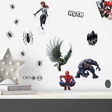 Marvel Spider Man Favorite Characters Peel Stick Wall Decals Kids Bedroom Superhero Stickers Walmart Com Walmart Com
