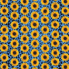 Sunflower Leopard Printed Pattern Vinyl Decal Or Htv Crafty Bucks