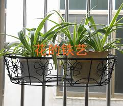 Iron Balcony Railing Fence Hook Spider Flower Pots Flower Pots Hanging Baskets Hanger Bracket Can Basket Bag Can Iphone Play Mp3basket Food Aliexpress