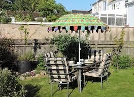 garden umbrellas and boho parasols