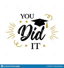 you did it congrats graduates class of party stock vector