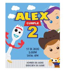 Invitacion Cumpleanos Amigos Toy Story Disenos Personalizados