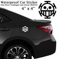 Trafalgar Law One Piece Anime Car Sticker Decal White Waterproof Lazada Ph