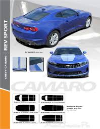 2020 2019 Chevy Camaro Ss Racing Stripes Rev Sport Dual Hood Decals Trunk Vinyl Graphics Decal Kit