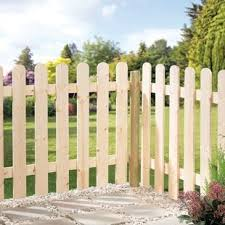 Wickes Palisade Arched Top Timber Fence Kit 890 X 890 X 1815mm Wickes Co Uk Timber Fencing Seaside Garden Front Garden