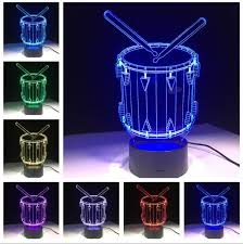 3d drum set l led changing grant