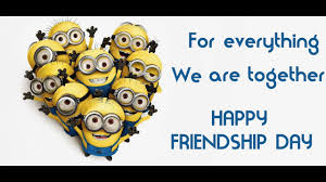 happy friendship day minions version