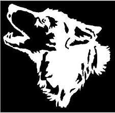 Amazon Com White Vinyl Decal Wolf Head Howling Wolves Howl Moon Hunt Truck Sticker Fun Die Cut Decal Bumper Sticker For Windows Cars Trucks Laptops Etc Automotive