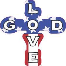 4inx4in Patriotic God Love Cross Sticker Christian Car Window Bumper Decal Walmart Com Walmart Com