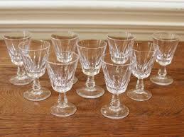 vintage small aperitif glassesstemmed