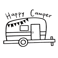 2020 16 11 5cm Happy Camper Travel Outdoors Vinyl Decal Funny Car Window Bumper Novelty Jdm Drift Vinyl Decal Sticker From Xymy777 1 69 Dhgate Com