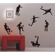 D126 Soccer Ball Football Wall Sticker Decal Kids Room Decor Sport Boy Bedroom Soccer Player Art Vinyl Wall Decal Home Decor Belecthleen