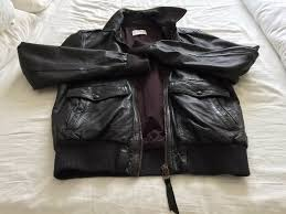 levis brown leather jacket l mens vgc