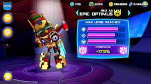 Angry Birds Transformers Android Gameplay - EPIC OPTIMUS Max Level 25 -  YouTube