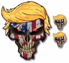 Donald Trump Hair American Usa Flag Skull Decal Bumper Sticker Car Truck Window Low Priced Decals Lots Of Designs