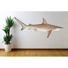 Amazon Com Large Black Tip Shark Sea Life Wall Decal Carcharhinus Limbatus 56 Wide X 24 Tall Handmade