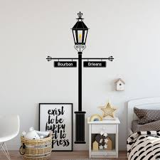 Gas Lamp Post With Customizable Street Signs Wall Decal K520 Etsy