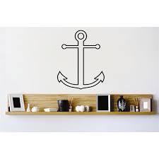 Custom Wall Decal Vinyl Sticker Anchor Pirate Ship Boat Home 12x12 Inches Walmart Com Walmart Com