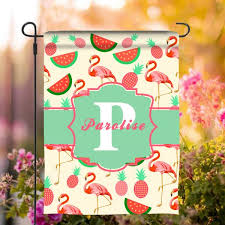 fruit garden flag with personalized