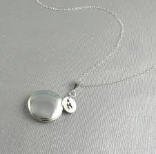 silver personalized necklace locket