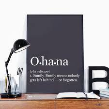 Ohana Means Family Lilio And Stitch Art Print Family Definition Gift For Family Disney Quote Art Print Ohana Wall Art Disney Quote Art Family Quotes Art Disney Wall Art