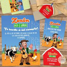 Kit Imprimible La Granja De Zenon Decoracion Candy Bar 390 00
