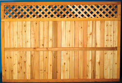 5 4 X 8 Cedar Diamond Lattice Top Wood Fence Panel At Menards