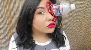 special fx makeup bottle in your eye