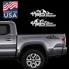 Amazon Com Toyota Trd Suv Car Truck Mountain Off Road 4x4 Racing Tacoma Decal Vinyl Sticker Pair Handmade