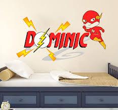 Amazon Com Flash Super Hero Custom Name Series Nursery Baby Boy Wall Decal Vinyl Sticker For Kids Home Kitchen Dining