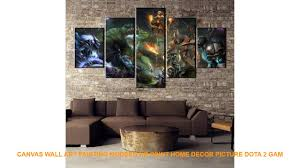 Canvas Wall Art Painting Modern Hd Print Home Decor Picture Dota 2 Gam Youtube