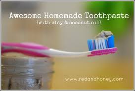 homemade toothpaste with clay and
