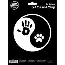 Decalcomania 10099 Pet Yin Yang Decal Stickers Walmart Com Walmart Com