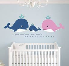 Whale Family Nautical Mom Dad And Baby Wall Decal Nursery Wall Decals Nautical Wall Decals Whale Family Decor Vinyl Sticker Home Decor First Baby Wall Decals Nursery