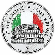 Italia Italian Vatican Rome Car Window Vinyl Decal Sticker 07109 Italy Country