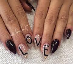 valentine s day pointy nail art designs